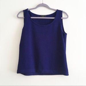 St. John Cobalt Blue Santana Knit Tank Top • Small